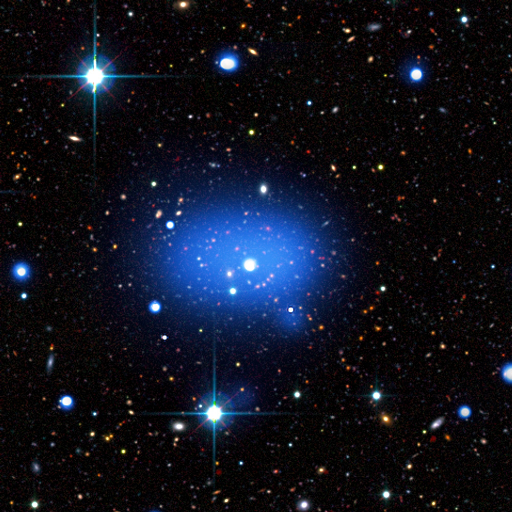 true color image of the most distant cluster known